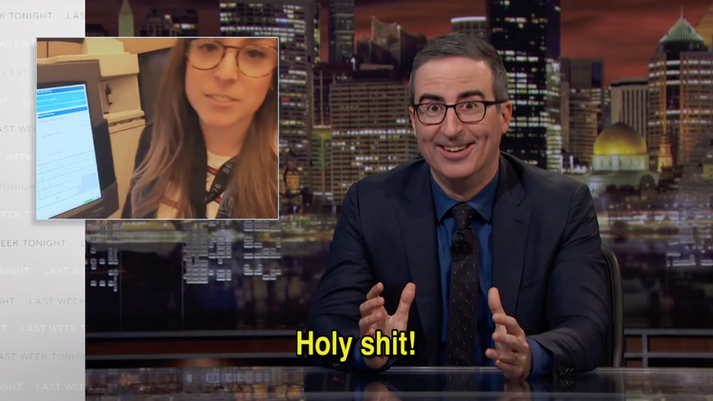 Rachel Hacking on John Oliver