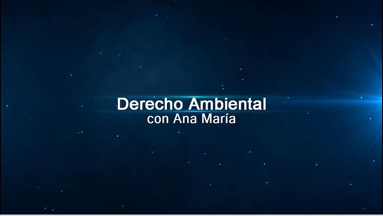 Derecho Ambiental con Ana María