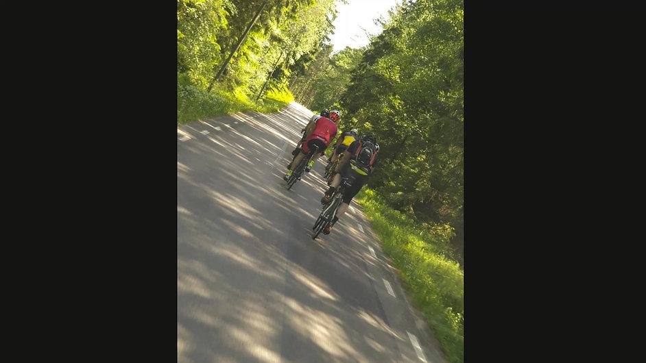 MinVätternRundan2020 med öster cykel och Johan
