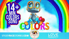 Learn the COLORS with your favorite robot Love Roboughty! - 4k official video
