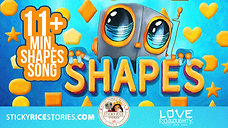 Learn the SHAPES with your favorite robot Love Roboughty! - 4k official video -