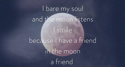 the moon and my song