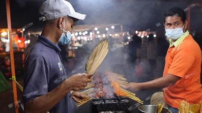 Street food night market at Putrajaya, Malaysia