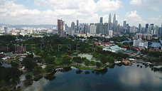 Aerial view over the skyline of Kuala Lumpur