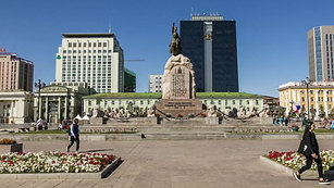The Sukhbaatar Square at Ulaanbatar, Mongolia