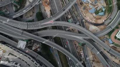 Aerial view of Highways at Kuala Lumpur, Malaysia