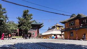 The Gandan monastery in Ulaanbaatar, Mongolia