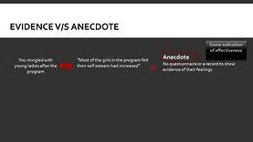 Evidence vs Anecdote