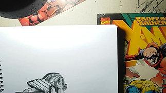 sketching samaurai zombie