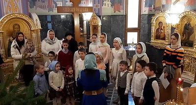 Рождественское поздравление от наших юных воспитанников С Рождеством Христовым!