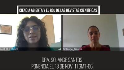 Entrevista a la Dra. Solange Santos