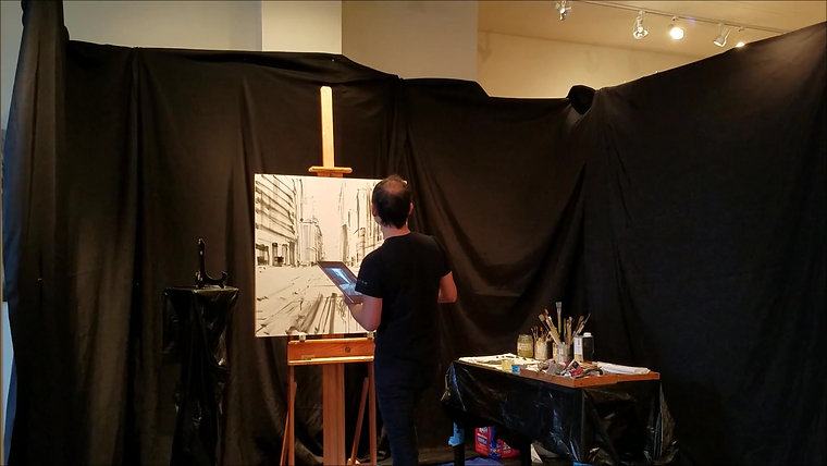 Valerio D'Ospina Live Painting Demo