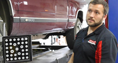 Laser Guided Alignment at Adams Automotive