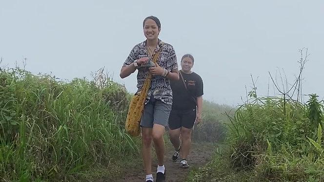 Malia finishing Waihee Ridge Hike - Maui