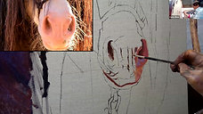 Painting the nose - Colour/tone theory 2305