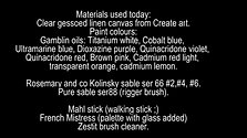 FREE Materials list for painting animals