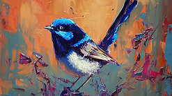 Painting a wren, Intro class