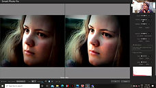 Editing the portrait