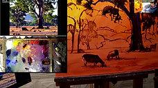 26th - Painting the shdows - Landcape