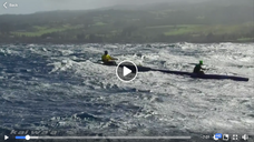 Epic OC1 outrigger downwind surfing