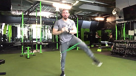 Banded Squat to Side Raise