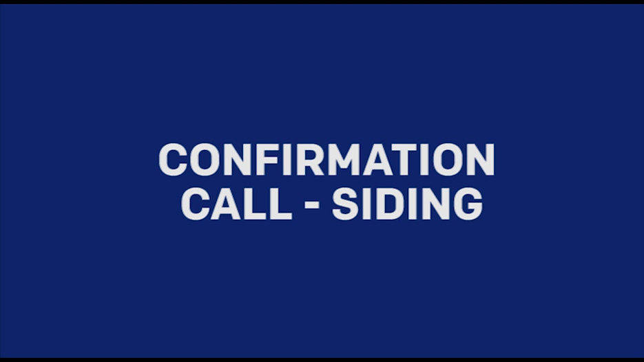 Sample Confirmation Call - Siding