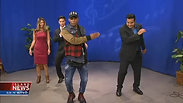 Learning dance moves with Todrick Hall