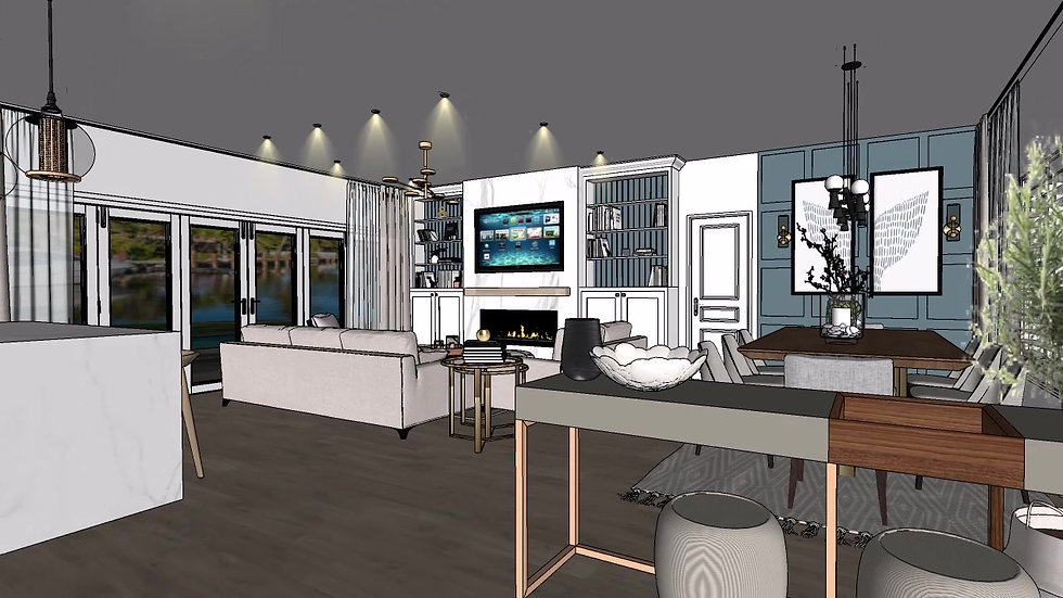 Fort Lauderdale interior design house remodel Living room, kitchen option 3  Master bedroom, master bathroom e-design