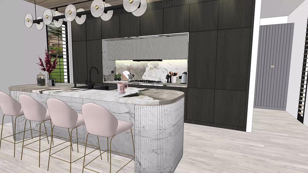Melbourne new built - kitchen and bathroom design