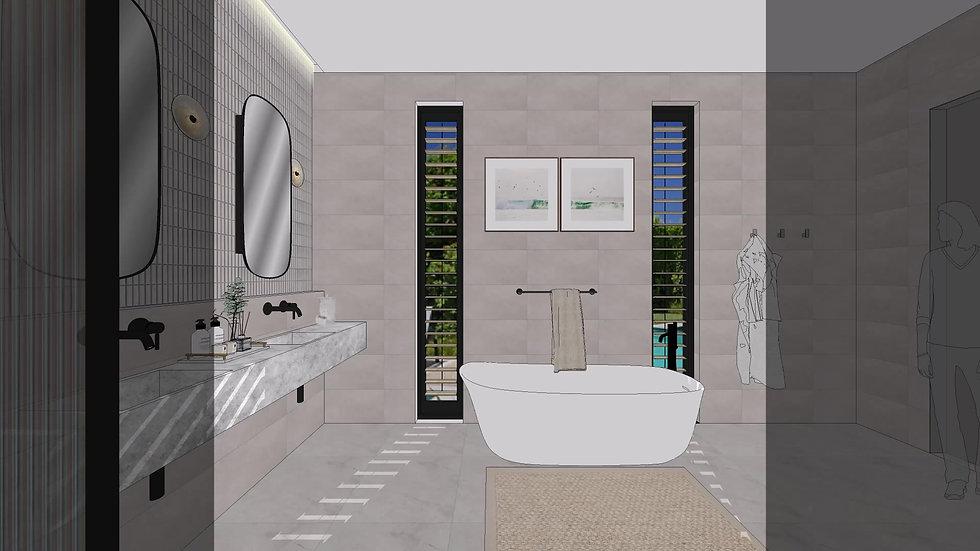 Bathroom 3D walkthrough Australia - Melbourne-apartment