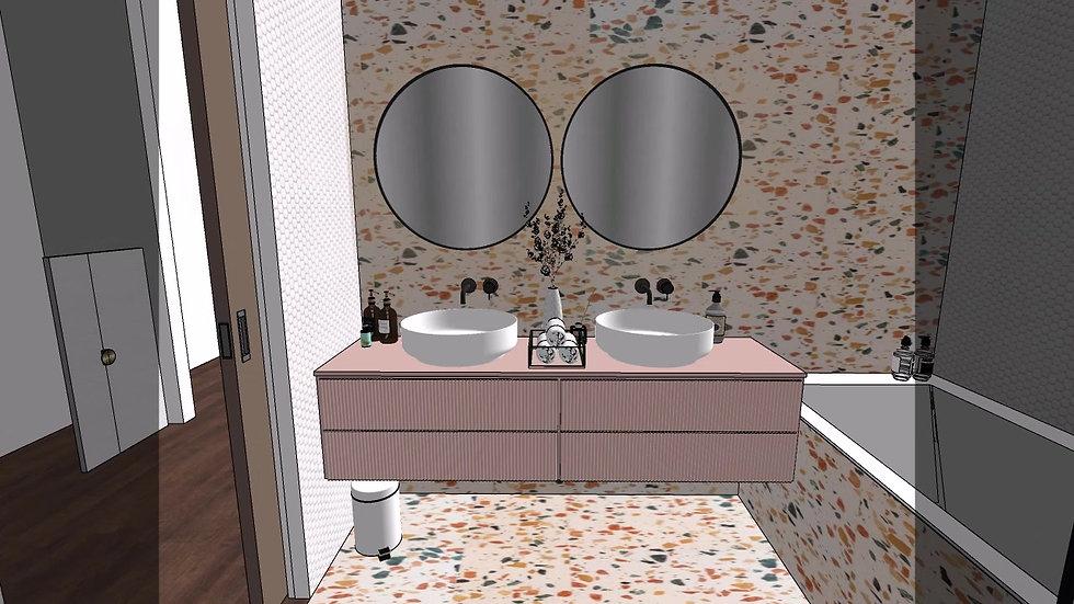 Interior Design Bathroom 3D Walkthrough
