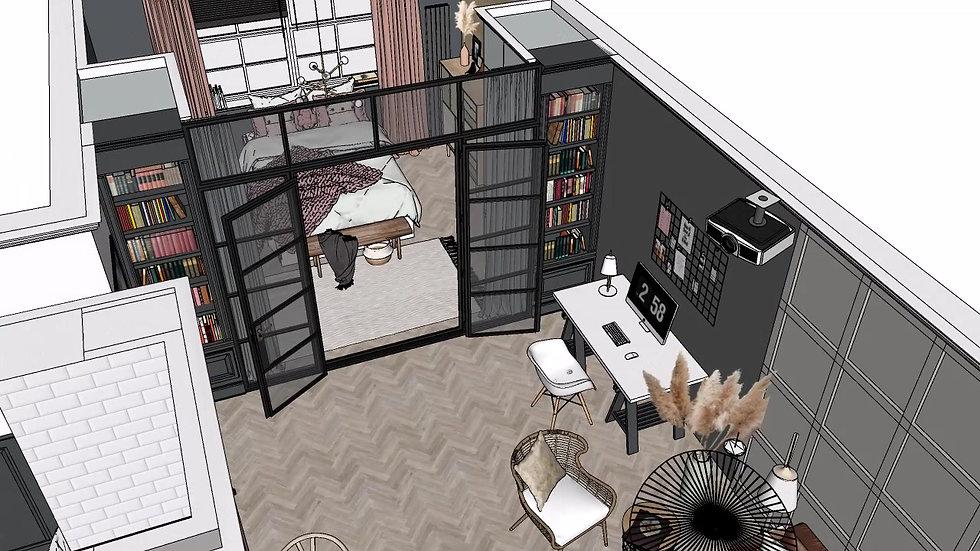 Interior Design Full Remodel Walkthrough 3D-tour