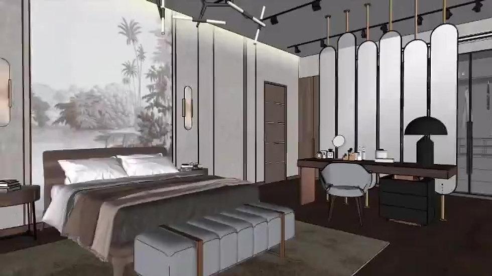 Interior Design Master Bedroom 3D Walkthrough