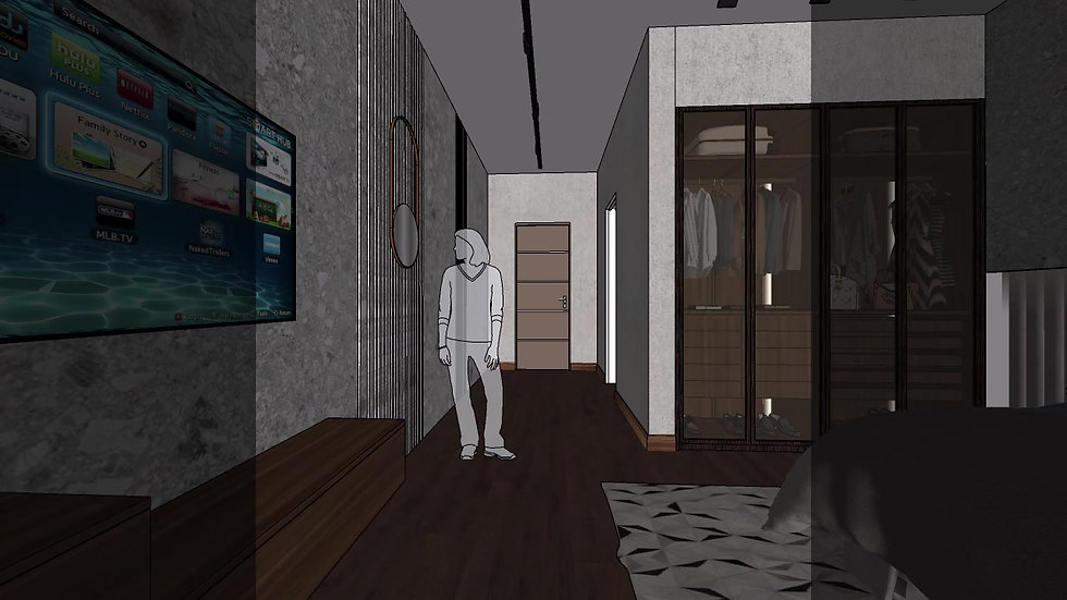 Interior Design Guest Bedroom 3D Walkthrough