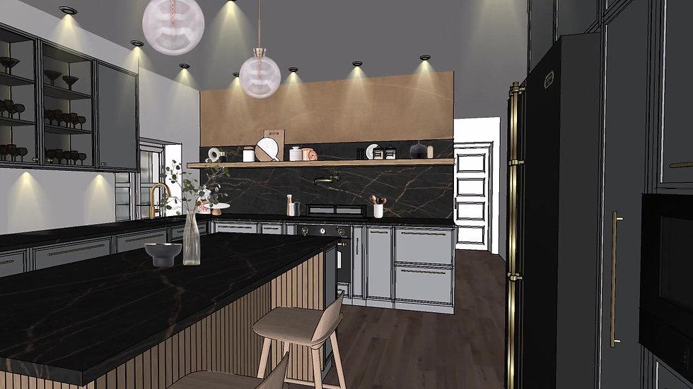 Scandinavian style kitchen 01