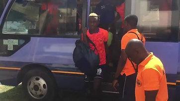 KMC FC arrived at Mkwakwani stadium before the match begin.