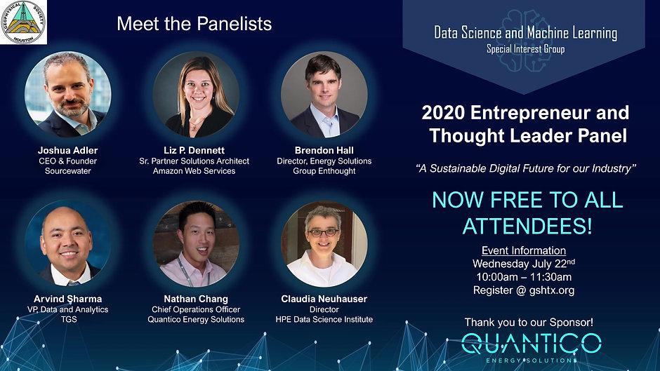 "2020 GSH ""Entrepreneur Thought Leader Panel"""