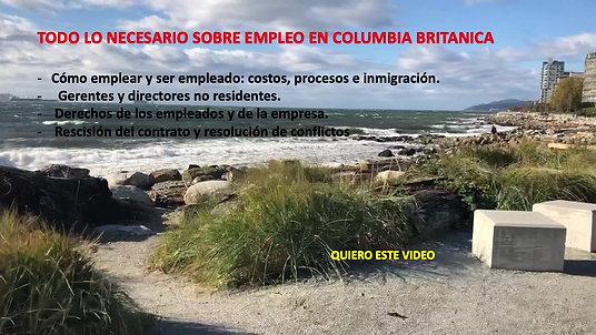 REGLAS DEL EMPLEO EN COLUMBIA BRITANICA