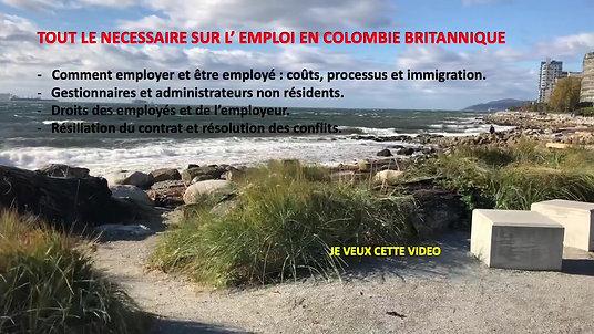 DROIT DU TRAVAIL EN COLOMBIE BRITANNIQUE