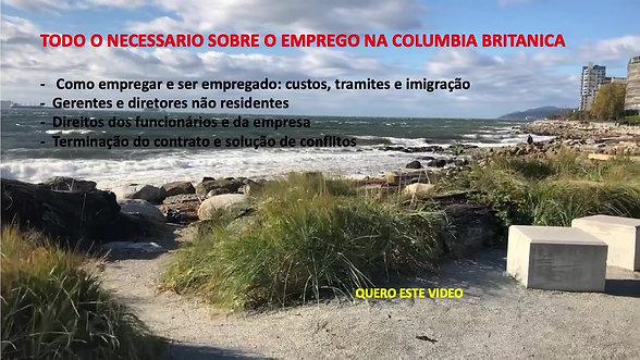REGRAS DO EMPREGO PARA BRASILEIROS NA COLUMBIA BRITANICA