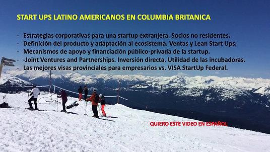 STARTUP LATINO AMERICANOS EN BRITISH COLUMBIA