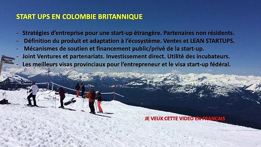 START UPS EN COLOMBIE BRITANNIQUE