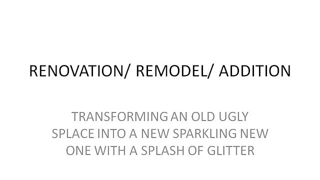 Renovation Projects