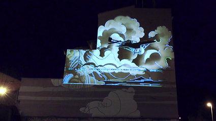 "Videomapping Mural ""Tormenta"""