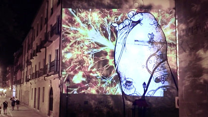 "Videomapping Mural ""Caminante"""