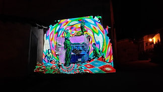 """Videomapping Mural """"Camperos"""""""
