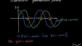 Differentiëren en integreren goniometrische functies