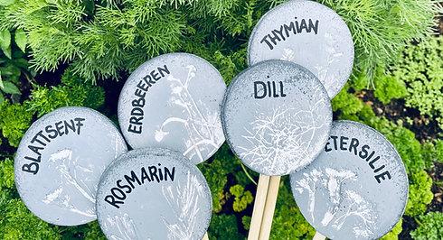 Gartenliebe - DIY-Schilder aus Modelliermasse
