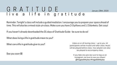January 2021 - Gratitude