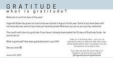 January 4th, 2021 - Gratitude - LIVE